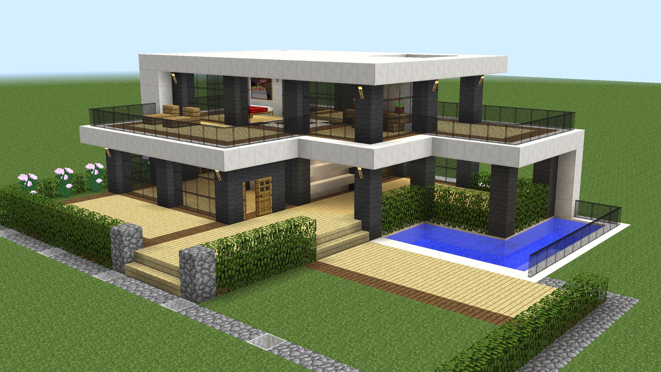 как построить модерн дома в майнкрафте 1.7.2 видео #10
